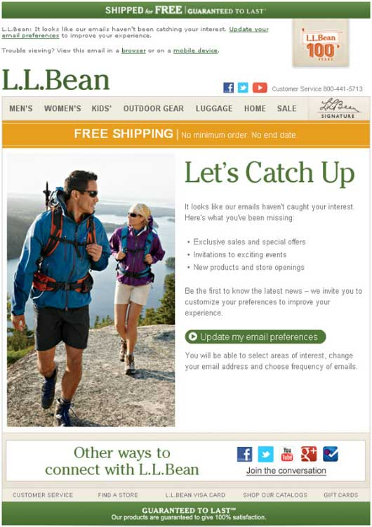 LL Bean Emails
